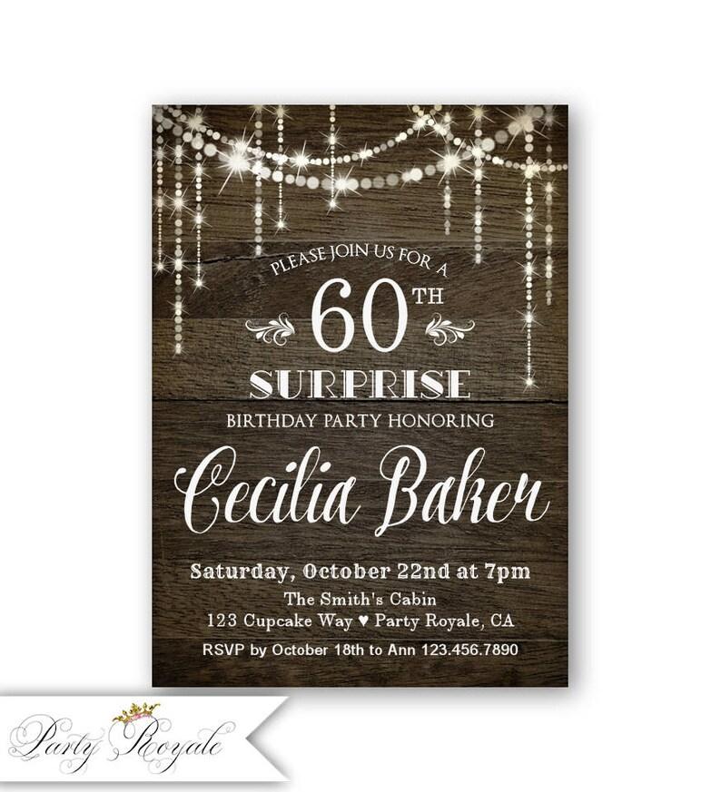 Surprise 60th Birthday Invitation Party