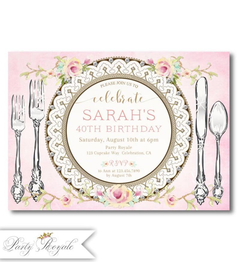 Dinner Party Invitation Birthday 30th