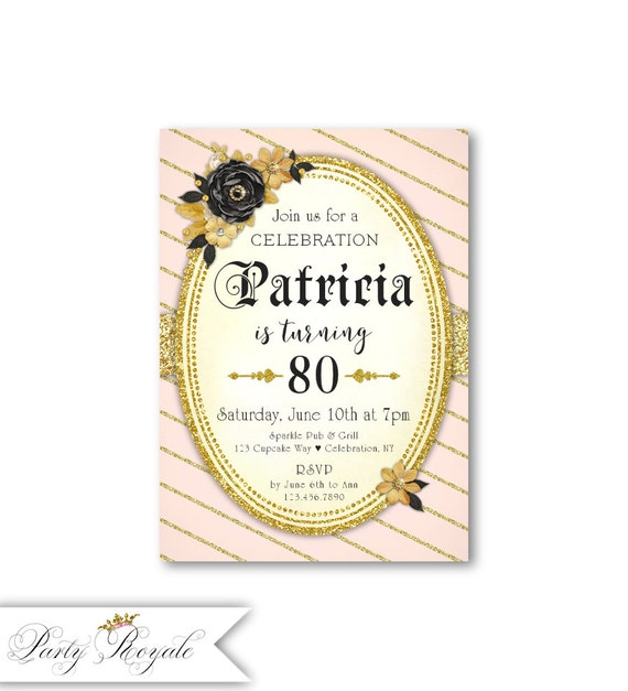 80th birthday invitations for women any age 85th 90th 95th etsy image 0 filmwisefo
