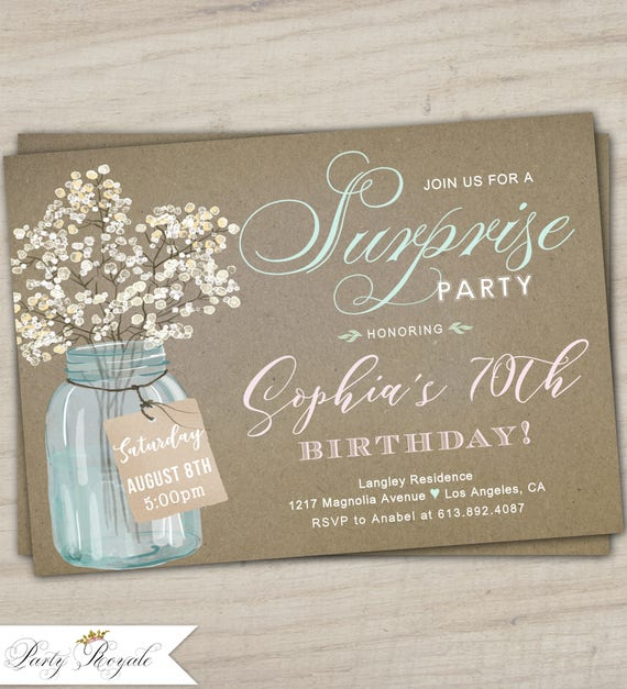 Womens Surprise Party Invitation Birthday