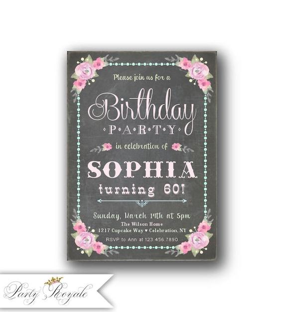 60th Birthday Invitation For Women