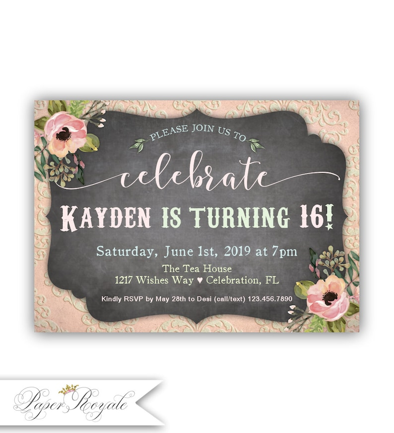 Sweet 16 Birthday Invitations Quinceanera Spanish