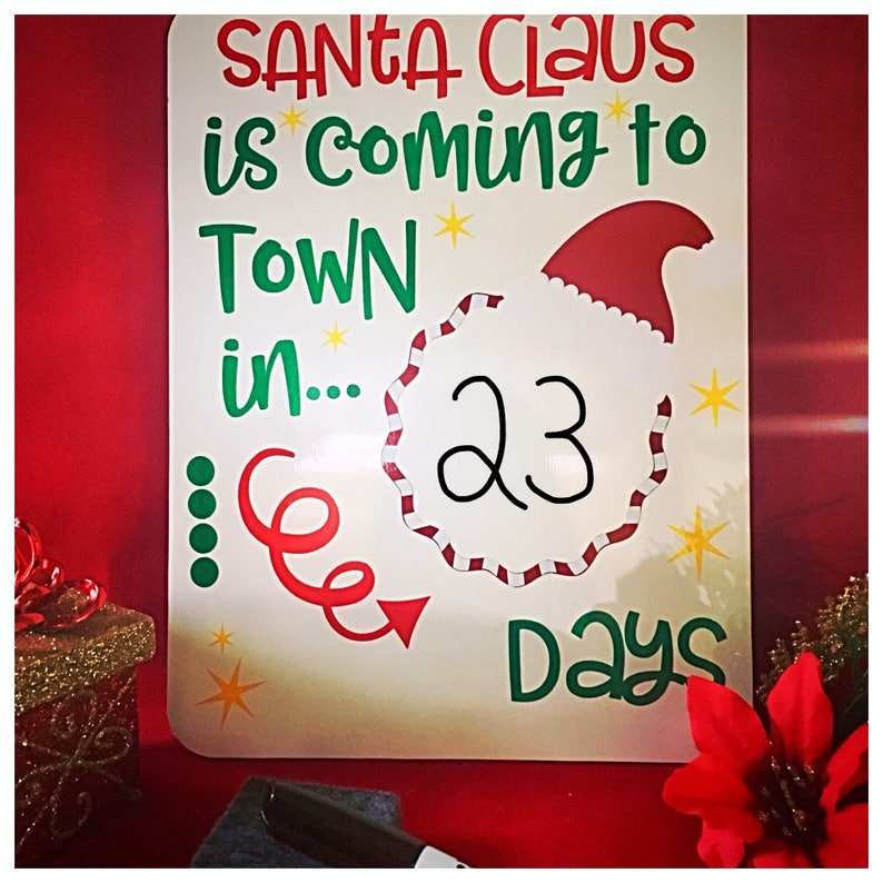 535276b8e Countdown To Christmas Days Until Christmas Dry Erase Sign | Etsy