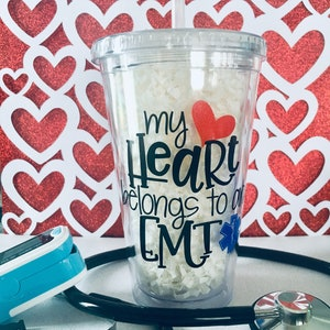 Mother Of A Firefighter Gift Firefighter Wife Tumbler EMS Week Gift Firefighter Tumbler