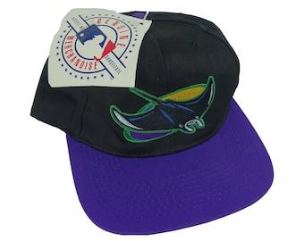 Deadstock Vintage 1990s Tampa Bay Devil Rays MLB Baseball Snapback Hat NWT f64b6b3fea2f
