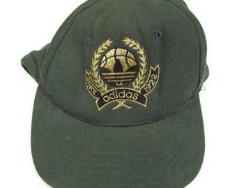 fcc0cc4cb85 1980s 1990s Adidas Trefoil Vintage Wool Snapback Hat