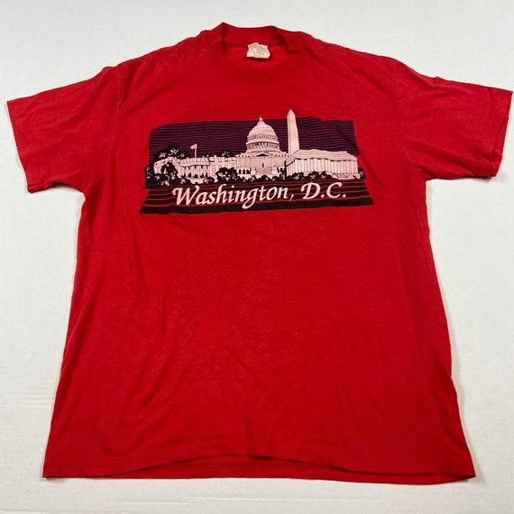 Vintage 1970s Washington DC Travel Tourist Red Mad