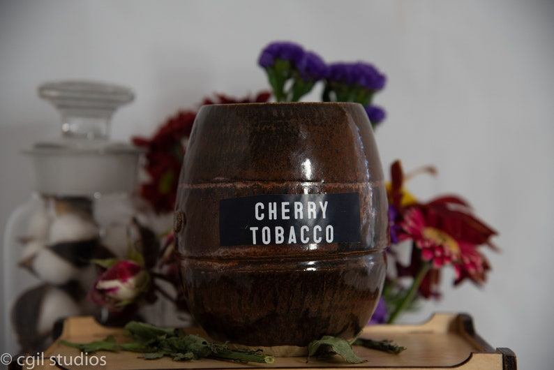 Cherry Tobacco Soy Wax Coconut Wax  Candle with wood wick all image 0