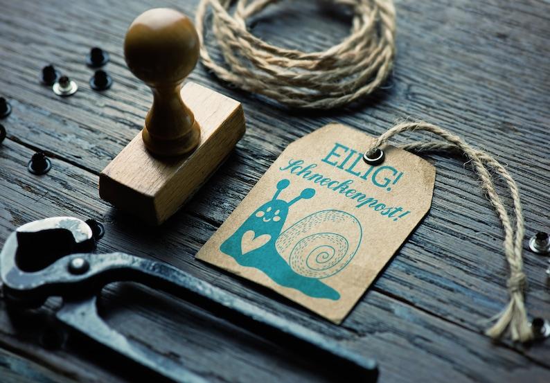 Stamp snail mail 50 mm diameter