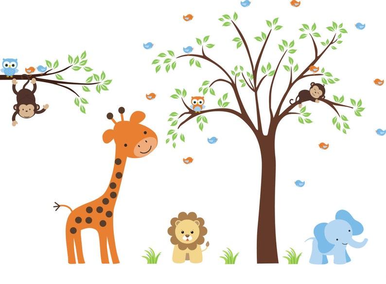 Baby Wall Decals  Nursery Animal Decals  Safari Elephant image 0