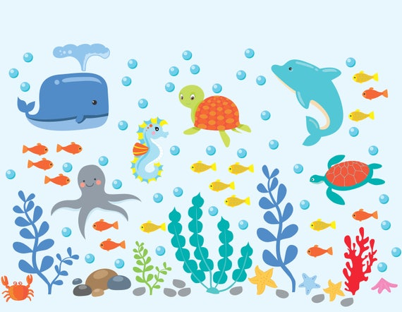 Dolphin Sticker Sheets Lot of 2 Tropical Fish Sea Life Ocean Themed Stickers