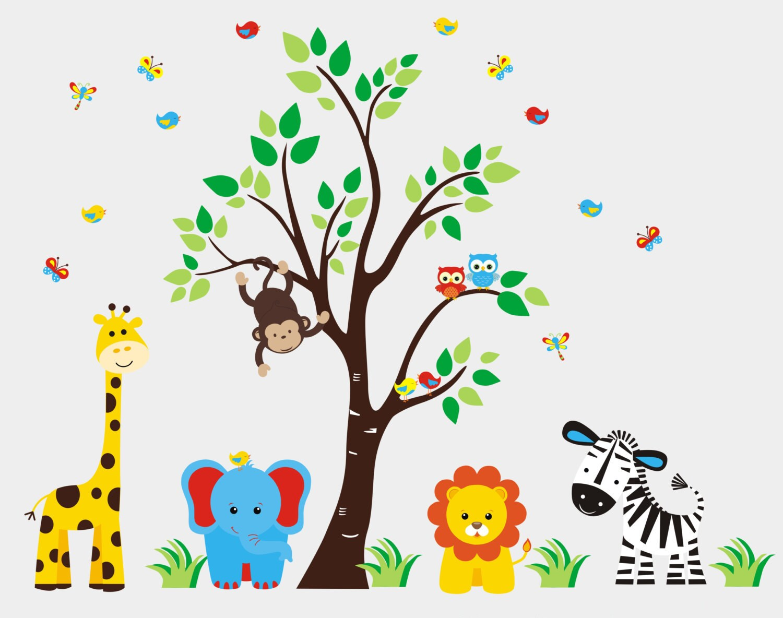 Nursery Room Decals Jungle Wall Decals Safari Animal Etsy