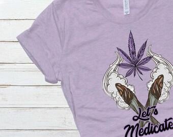 Let's Medicate Tee | 420/Cannabis/Hemp/Marijuana Short-Sleeve Unisex T-Shirt