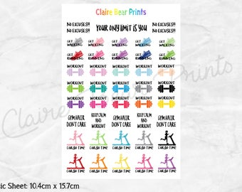 WORKOUT Planner Stickers