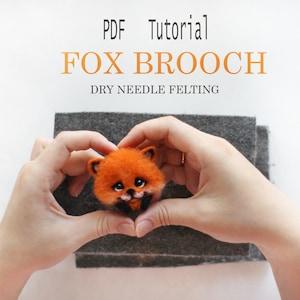 The Wishing Shed craft intermediate PDF FILES needle felt PATTERN Butterfly Fox Instant Download