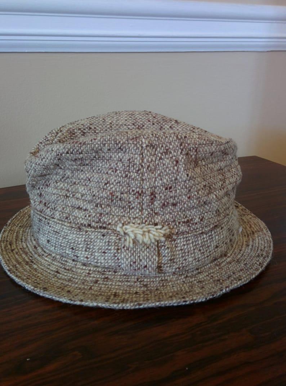 bf5c91b5 Vitage men's tweed Fedora size 7 1/4   Etsy