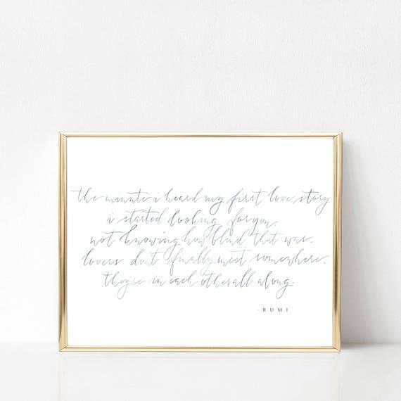 Rumi Gedicht Aquarell Kalligraphie Druck Zitat Von Rumi Moderne Kalligraphie Aquarell Kalligrafie Kunst Druck 5 X 7 8 X 10 11 X 14 16 X