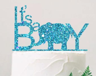 It's a Boy Cake Topper Baby Shower Cake Topper Baby Shower Decoration Baby Shower Boy Glitter  Cake Topper Baby Boy Shower