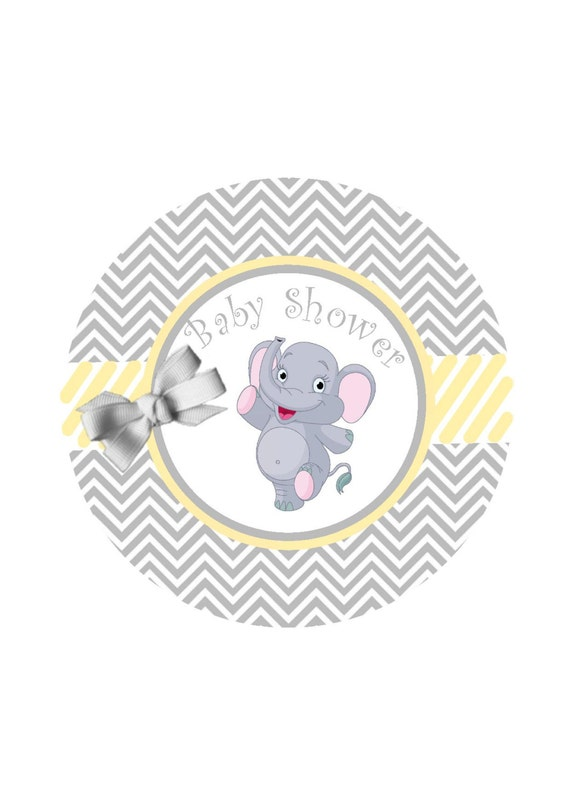 Baby Shower Favors Labels Ready To Pop Sticker