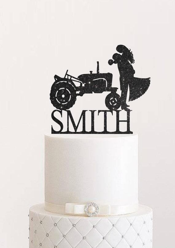 Traktor Hochzeitstorte Topper Bauer Cake Topper Land Braut Und Etsy