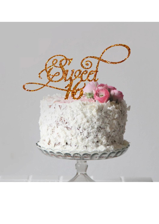 Sweet 16 Cake Topper Happy Birthday Cake Topper Sweet ...