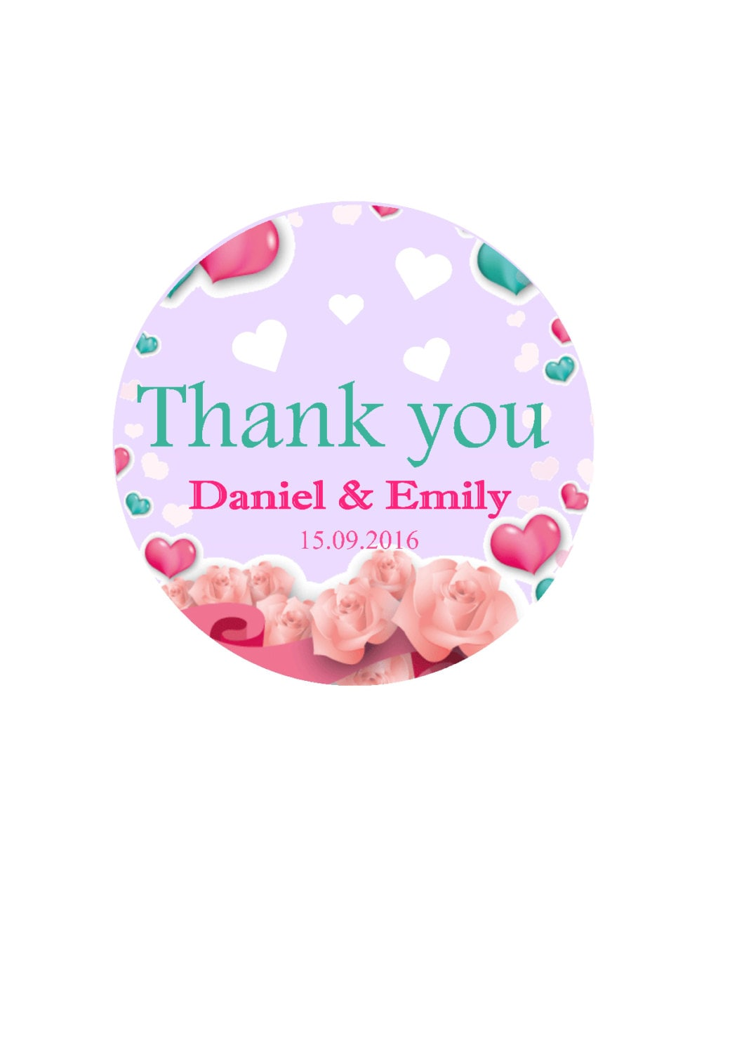 Thank you Sticker Thank you Label Round Labels Favor Stickers   Etsy