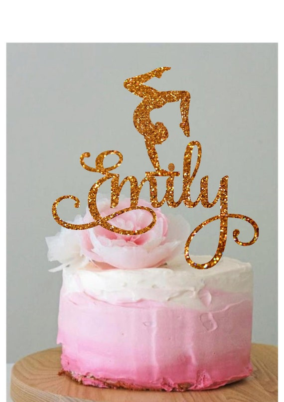 Peachy Personalized Gymnastics Cake Topper Gymnast Cake Topper Etsy Personalised Birthday Cards Paralily Jamesorg