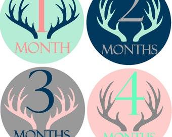 Month Sticker Baby Month Stickers Baby Monthly Stickers Boy Month Sticker Baby Stickers Monthly  Stickers Bodysuit Milestone Stickers