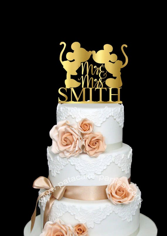 Mickey & Minnie Cake Topper Wedding Cake Topper Disney Cake   Etsy