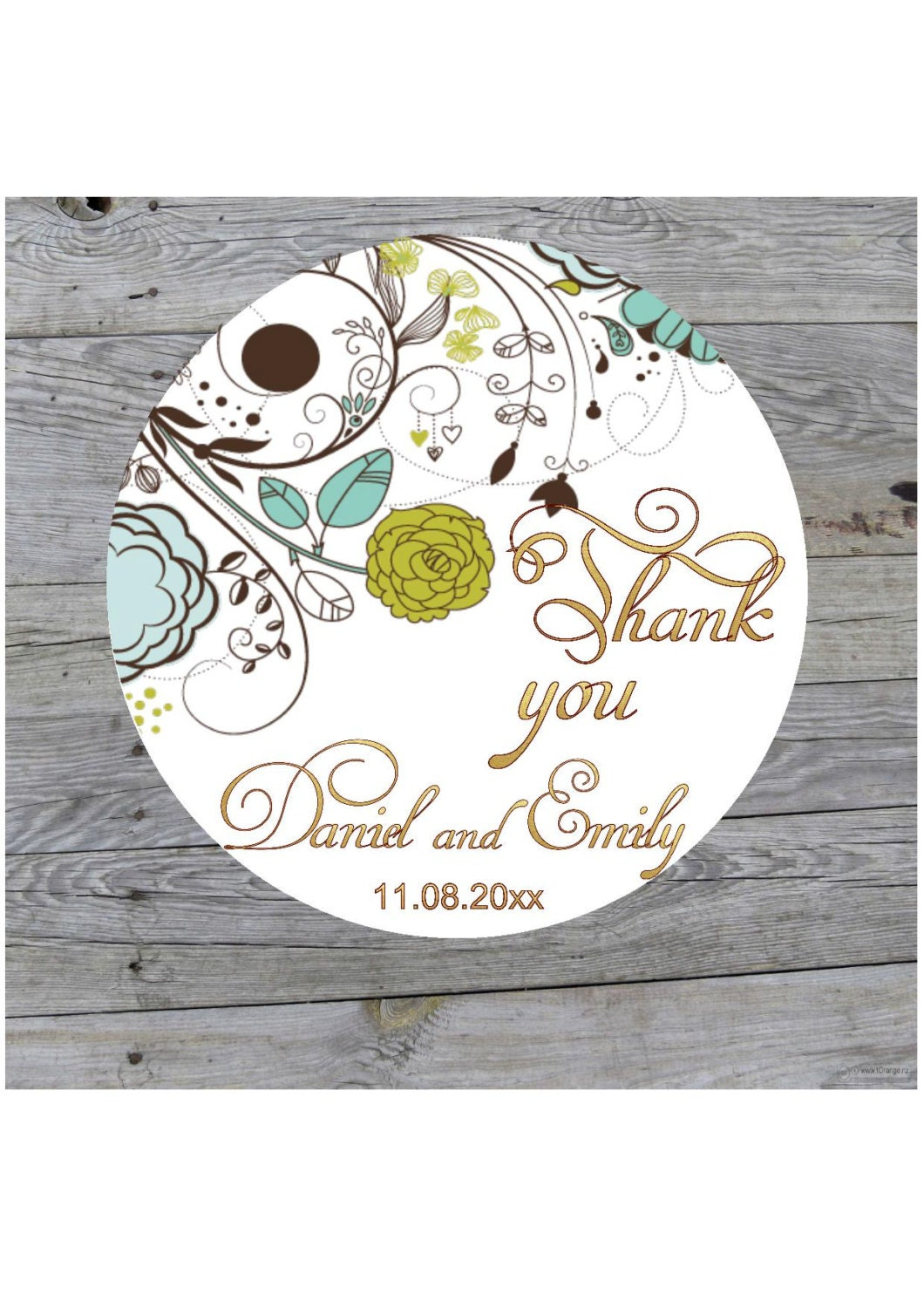 Custom Wedding Stickers Thank You Stickers Personalized Etsy
