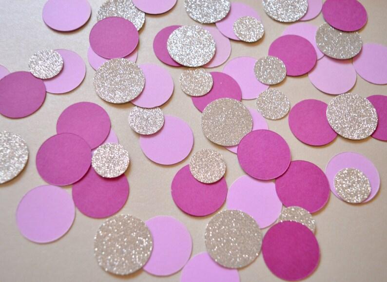 Wedding Confetti Birthday Party Decor Confetti Circle Table image 0
