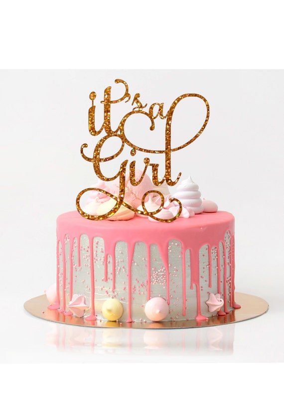 Baby Shower Cakes For Girls.It S A Girl Cake Topper Baby Shower Cake Topper Baby Shower Decoration Baby Shower Girl Glitter Cake Topper Baby Girl Shower