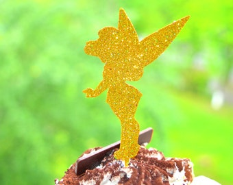 Fairy Party Cupcake Toppers Fairies party decor Birthday Cupcake Toppers Glitter Cupcake Toppers Birthday Party Decorations