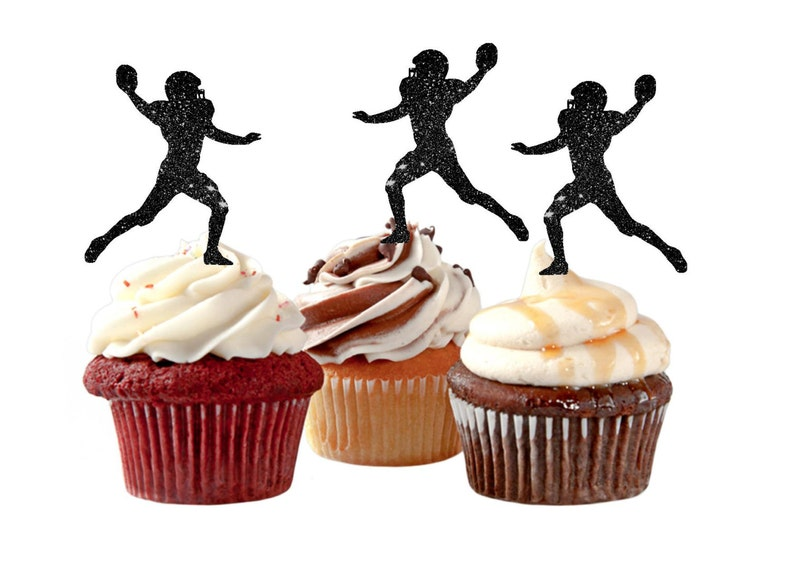 Football Cupcake Toppers Football Party Boy's Birthday image 0