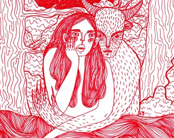 Red - print 10,5 x 14,8 cm