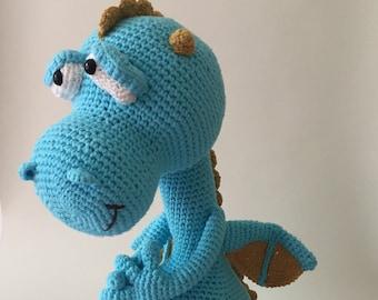 Crochet Dragon Soft Toy