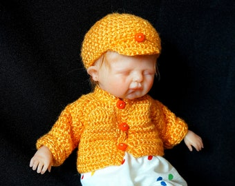 """Baby girl OOAK from polymer clay """"Luba"""""""