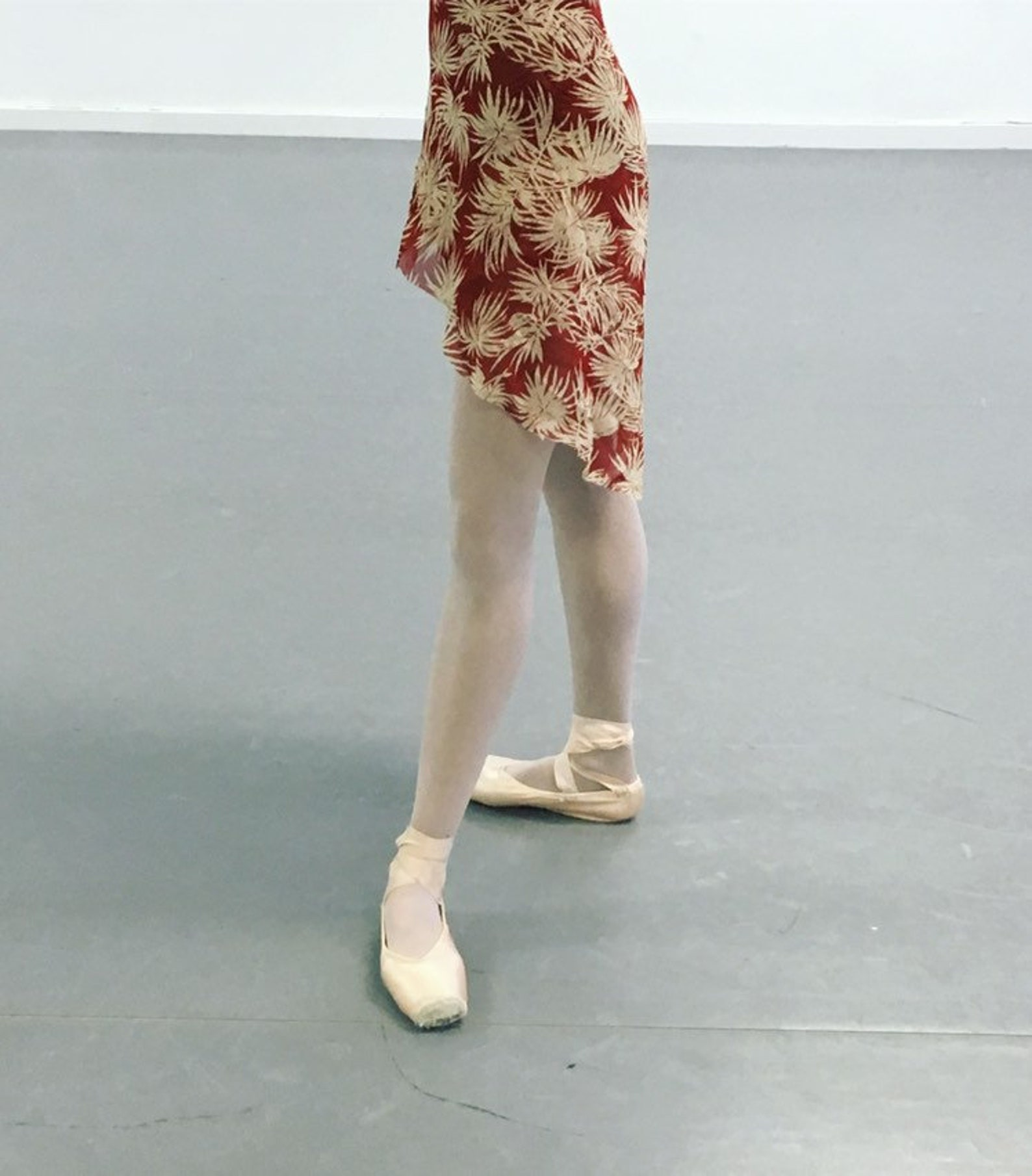 new! toi toi toi ballet wrap skirt long style! rehearsal, class, performance. floral print.