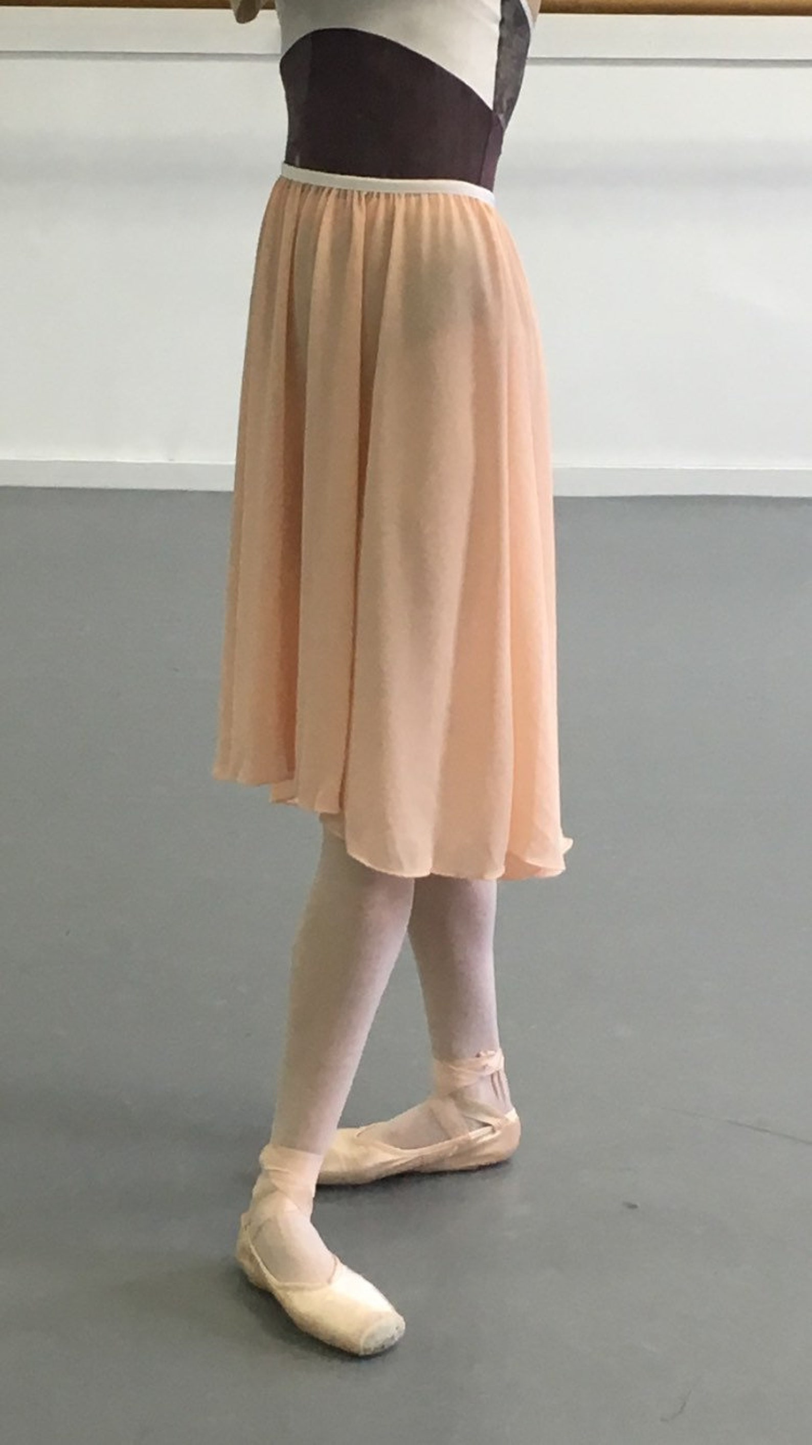 toi toi toi ballet high-low slip-on skirt! rehearsal, class, performance. blush. desiree style.