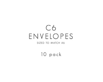 Envelopes / C6 / 10 PACK