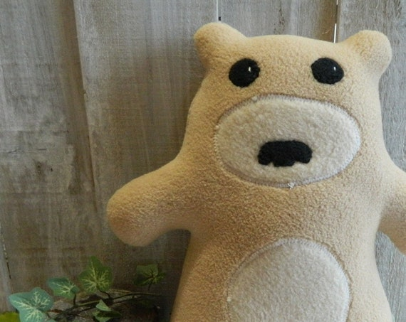 Stuffed plush teddy bear toy, woodland nursery, baby shower gift, teddy bear stuffed animal