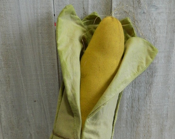 Primitive stuffed muslin ear of corn, Fall decor Thanksgiving rustic home decor country farmhouse decor rustic fall bowl fillers