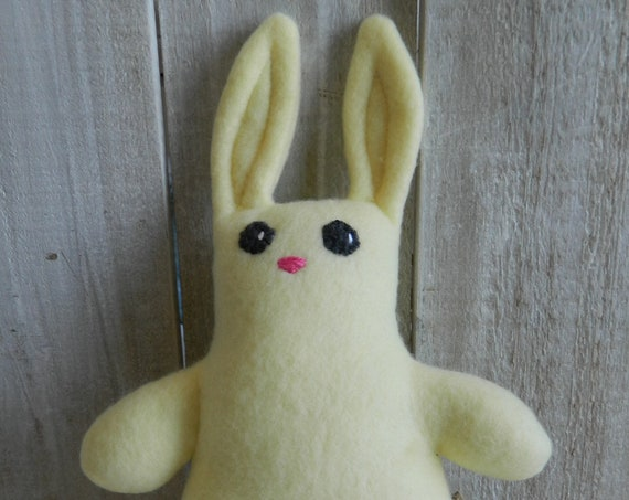 Plush baby bunny woodland stuffed animal, baby shower gift, bunny nursery decor
