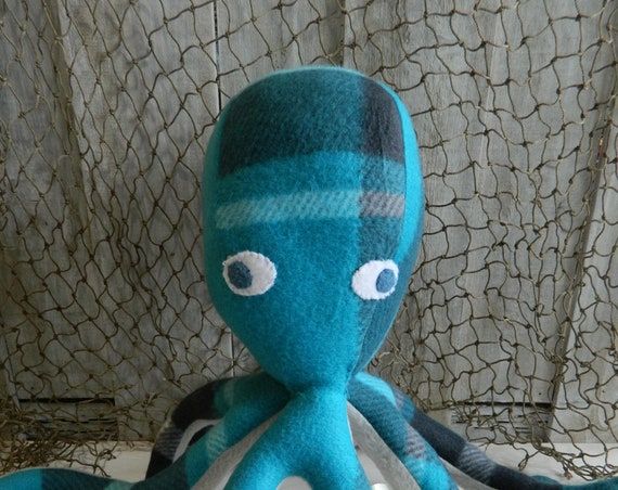 Octopus stuffed toy, nautical baby stuff, under the sea, octopus plush, stuffed sea animal, toddler boy toy, toddler girl toy