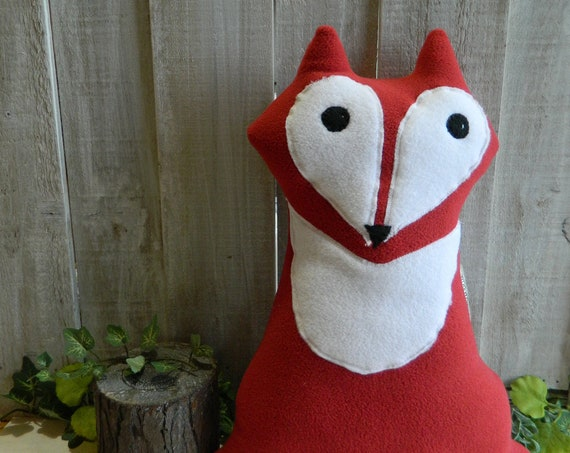 Plush fox toy stuffed animal, woodland nursery decor, baby shower gift, woodland plush