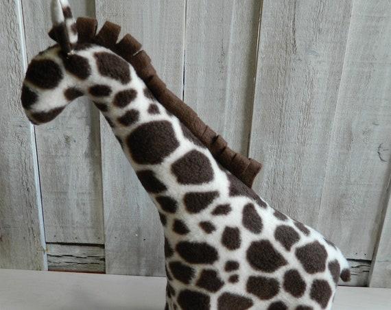 Small stuffed fleece giraffe toy, jungle animal plush toys, baby shower gift