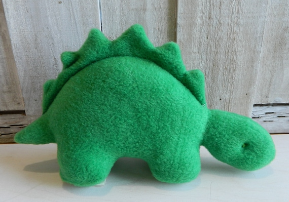 Small stuffed kelly green dinosaur toy, baby shower gift, nursery decor