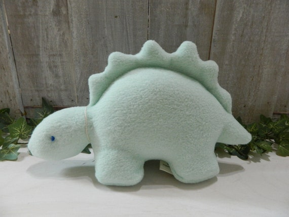 Small stuffed light teal dinosaur toy, baby shower gift, nursery decor