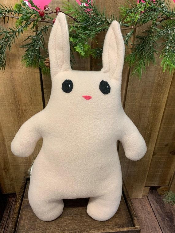 Plush bunny rabbit stuffed animal, woodland nursery, baby gift, plush woodland decor