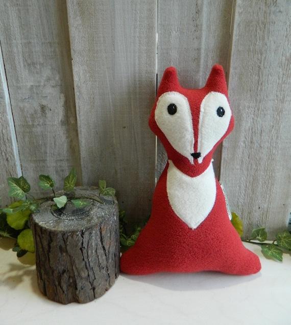 Small plush fox toy stuffed animal, woodland nursery decor, baby shower gift, woodland plush